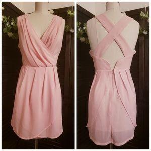 Tobi Dresses - Peach Mock Wrap